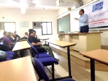 lecture at GLS university