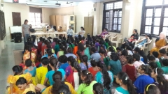 story telling function at blind girl school - 31/12/2016